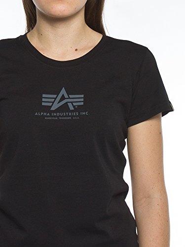 Alpha Industries Damen Oberteile/T-Shirt Basic T Wmn Black