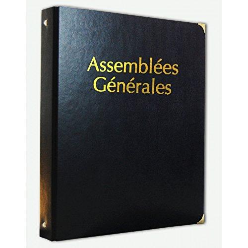 Classeur Assemblées Générales simili cuir avec Recharge 100 feuillets foliotés