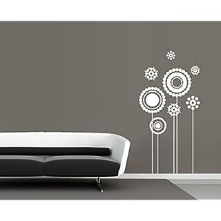 arslinea Wandtattoo - Retro Blumen, 85x42 cm, braun