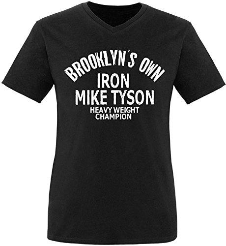 ezyshirt Brooklyn`s Own Iron Mike Tyson Herren Hoodie Schwarz/Weiss