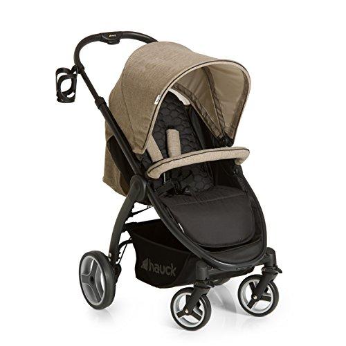 Hauck Buggy Lift Up 4/ mit Liegefunktion, klein zusammenklappbar / für Kinder ab Geburt bis 25 kg, Melange Beige (Beige)