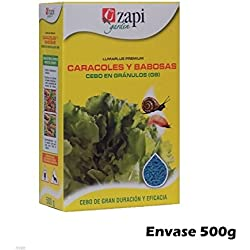 Cebo en gránulos Zapi 500g para controlar CARACOLES y BABOSAS