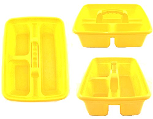 yellow-plastic-cleaning-caddy-cleaners-carry-all-basket-tote-tray-
