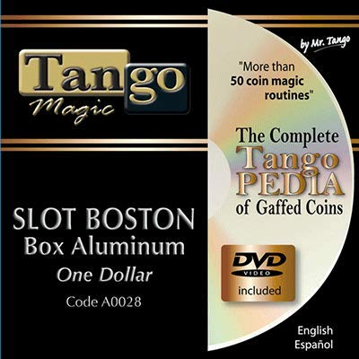Slot Boston Coin Box (Aluminum w/DVD)(A0028) One Dollar by Tango Magic - Tricks