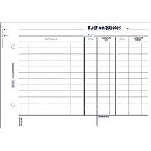 Zweckform Buchungsbeleg/308 DIN A5 quer weiß Inh.50 Blatt