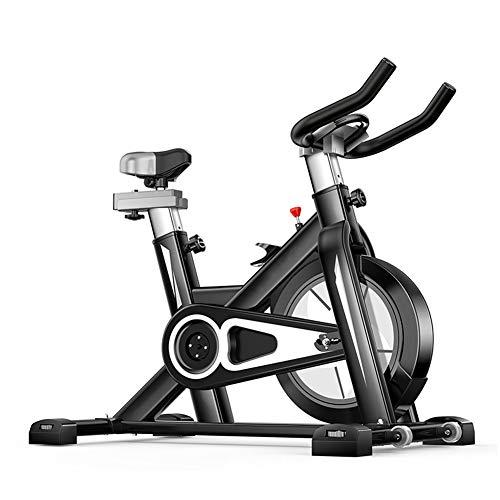 KuaiKeSport Heimtrainer Fahrrad für Zuhause,Indoor Cycle mit Intelligente App Elektromagnetisch Spinning Fahrrad,Ergometer Fahrrad Aerobic Übung Verstellbarer Widerstand Mit Rutschfestem Pedal,Black (Pedal-ergometer übung)
