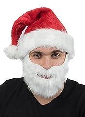 Idea Regalo - Berretto di Natale Natale cappelo di Babbo cappelli cappucci berretto con barba