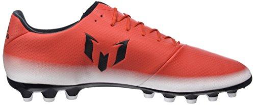 adidas Messi 16.3 AG, Chaussures de Football Homme, Rot/Weiß/Schwarz, 47 EU Rouge (Rojo/negbas/ftwbla)