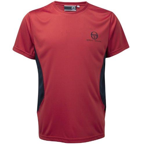 Sergio Tacchini da uomo a maniche corte maglietta da allenamento, JETTA, Uomo, Red/Navy, S