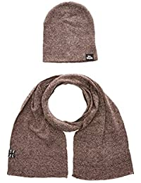 Lonsdale Hat & Scarf Set LEAFIELD - marl brown