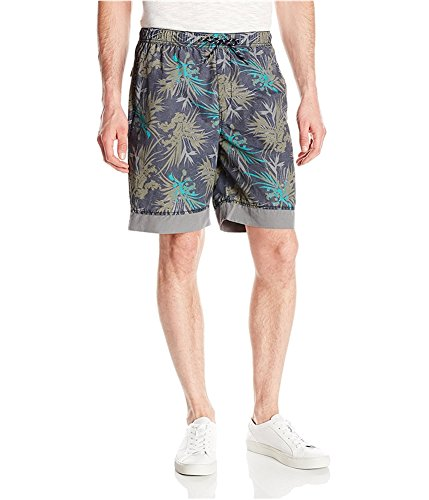 Baumwoll-pull-on Shorts (UNIONBAY Herren Printed Pull-on Shorts - Blau - X-Groß)