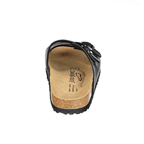 JOE n JOYCE Paris Synsoft. Sandali spagnoli composti al 100% da materiali naturali - normale - Black