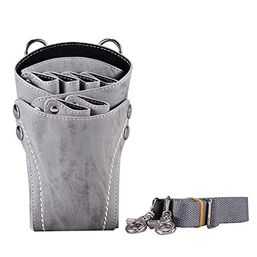 Schere Pouch Holster mit Gürtel für Friseure Salon Hair Stylist Schere Shear Waist Holder Case Bag,Gray Case Pouch Holster