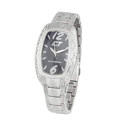 Chronotech orologio analogico quarzo donna con cinturino in acciaio inox cc7121ls-02m