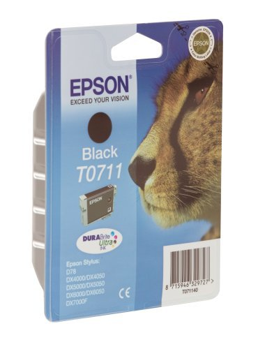 8 X Epson T0711 - Print cartridge - 1 x black