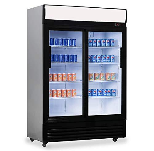 Frigorífico puerta cristal 1000l capacidad, frigorífico
