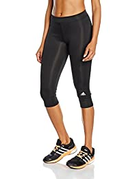 adidas Techfit Capris Mallas, Mujer, Multicolor (Negro / Plamat), L