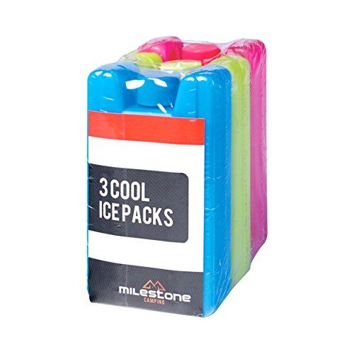 Milestone Mini-Eiskühlblöcke (Dreierpack) - rot / blau / grün, 0,1 Liter