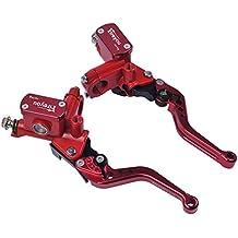 Palanca de freno de la motocicleta Embrague hidráulico Cilindro principal Juego rojo Frenos Depósito universal del