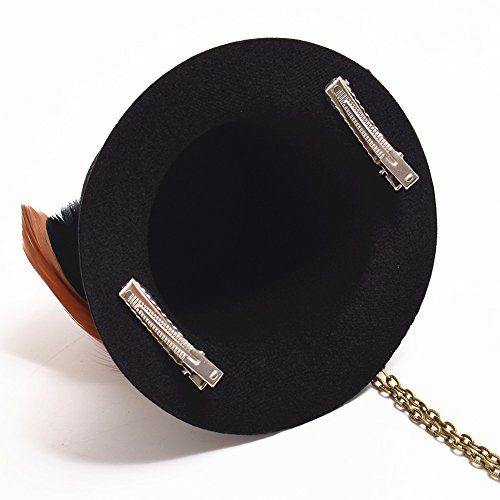 BLESSUM Steampunk Mini oben Hut Haar Clip