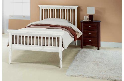 Single 3ft Wooden Shaker Bedframe White Wash
