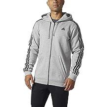 Adidas - Sudadera modelo Essential para hombres, de algodón polar y cremallera completa