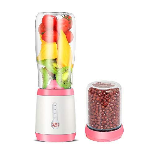 ldqlsq frullatore per smoothie, frullatore per frutta e verdura frantoio del miscelatore del succo di vetro della macchina di cottura multifunzionale dello spremiagrumi con il coltello,rosa