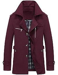 Qmber Kapuzenjacke Herrenjacke Sweatjacke Parka Mit Kapuze Hoodies Outdoor Coat Strickjacke Täglichen Mäntel Outwear Herbst Winter Tops, Warmer Mantel Slim Long Trench Buttons