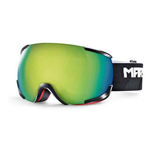 Occhiali da Neve da uomo Marker 16: 10+ Otis Black Goggle, yellow plasma mirror, Taglia unica
