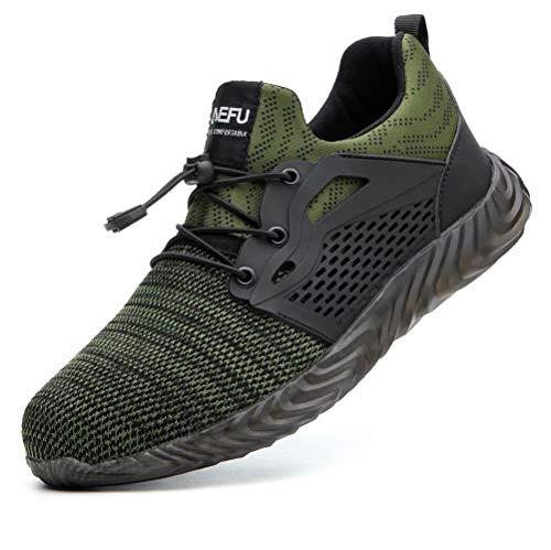 Calzado de Trabajo Hombre Zapatos de Trabajo Zapatillas de Seguridad Mujer Ligeros Zapatos Deportivos...