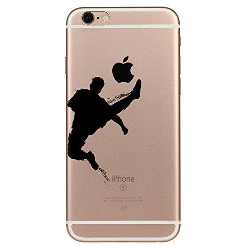IPHONE 6s Hülle Traumfänger Ballon Karikatur Panda TPU Silikon Schutzhülle Handyhülle Case - Klar Transparent Durchsichtig Clear Case für iPhone 6/6s Fußball