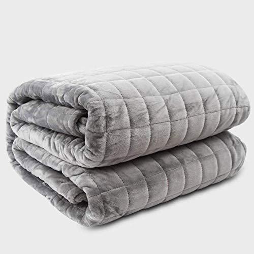 LMDH Die gewichteten Decke gewichteten Decke Luxurious Microplush abnehmbare Abdeckung Schwere Beruhigende Decke for Erwachsene, 200 * 230cm / 6.8kg