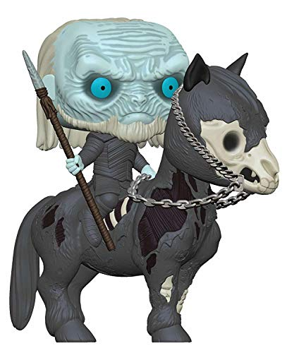 Funko- Pop Rides: Game of Thrones S10: White Walker on Horse Figura Coleccionable, (37669)