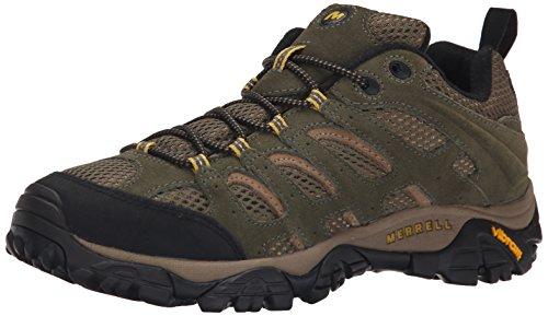 Merrell Herren Moab Ventilator Schuhe mit Niedrigem Anstieg, Grün (Olive), 43 EU