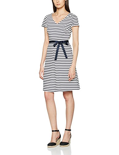 s.Oliver BLACK LABEL Damen 11704826465 Kleid, Weiß (White AOP 01A5), 38 -