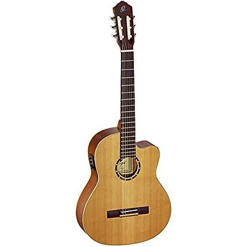Ortega RCE131 - Guitarra electroacústica (cedro y caoba, tamaño 4/4), color natural