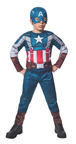 Disfraz de Capitán América retro: el Soldado de Invierno deluxe para niño - 8-10 años