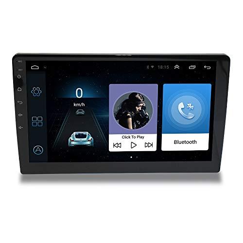 LHNa Navigationsgerät Auto GPS 10 Zoll Touch-Display Bluetooth Freisprecheinrichtung Sprachführung Autoradio Fahrspur assistent Führen Sie Speicher 1G + 16G Quad-Core-CPU Amr Mp3