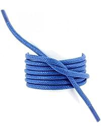Les lacets Français - Lacets Ronds épais 3mm Coton Ciré Couleur Bleu Blason