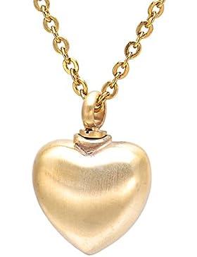 Valyria 1,3ml sttainless Stahl Herz Halskette Wasserdicht Unisex für Speichern Gold 1PCS