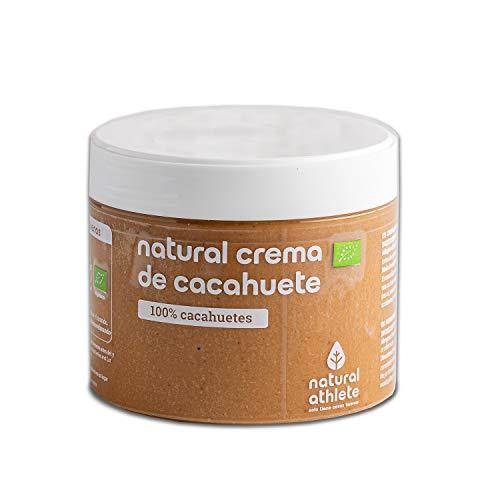 Crema de Cacahuete BIO -Natural Athlete- 100% solo cacahuetes - 100% natural y vegano - sin azúcar añadido - sin gluten - sin lactosa y sin aditivos. 300 gr