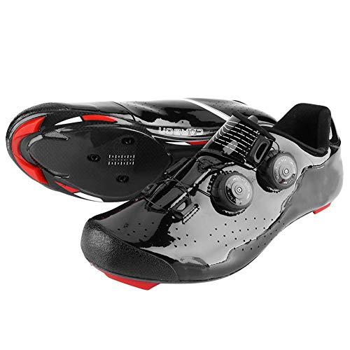 VGEBY1 Scarpe da Bicicletta, Scarpe da Ciclismo Professionali in Fibra di Carbonio per Bici da Strada Mountain Bike Riding Racing(42)