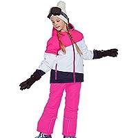 Gski Chica Chaqueta Y Pantalones De Esquí Resistente Al Viento, Templado, Ventilación Esquí/Deportes Múltiples/Deportes De Nieve Poliéster, Prendas Ropa De Esquí,Invierno,Pink,158/164