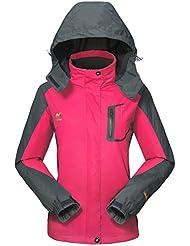 GIVBRO Damen Softshell Regenjacke 2017 Neues Design Sport Wasserdichte Outdoorjacke Atmungsaktive Multifunktions Funktionsjacke Jacke