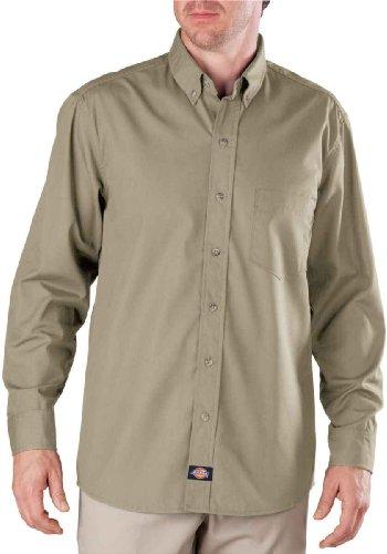 Dickies - - Männer LL500 Long Sleeve Premium-Industrie-Button-Down Popeline-Hemd Khaki