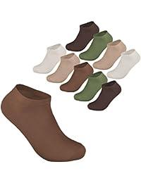 9-24 Paar Sneaker Socken Füßlinge Kurzsocken Sport Freizeit Damensocken Grau