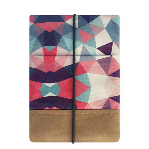 Kuratist eBook Reader Sleeve- Handgemacht aus 100% Baumwolle und Kantenschutz aus Papier in Lederoptik (100% Vegan) (6 Zoll/Tolino Shine 2/3 HD/Vision 2/3/4 HD, Tribal)