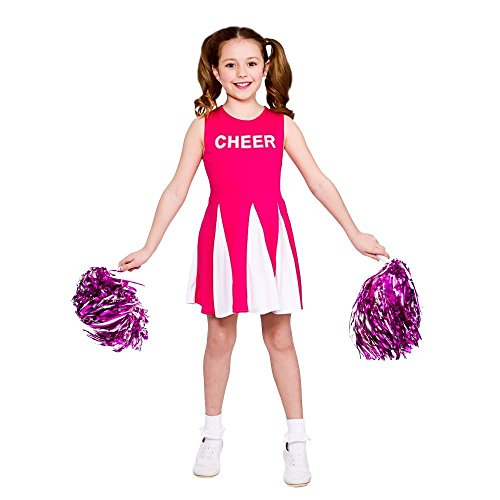 Girls Cheerleader - Hot Pink 2016 Kids Costume (Katze Kostüm Alter 13)
