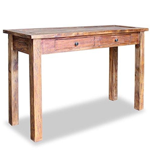 Festnight Konsolentisch Tisch mit 2 Schubladen Holztisch Sideboard aus Massiv Altholz 123 x 42 x 75 cm