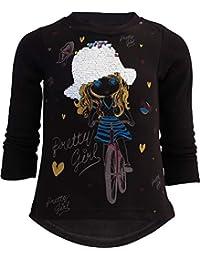 Unbekannt Pretty Girl Mädchen Kinder Sweatshirt Pullover Wendepailletten Glitzer Bluse Langshirt Pulli